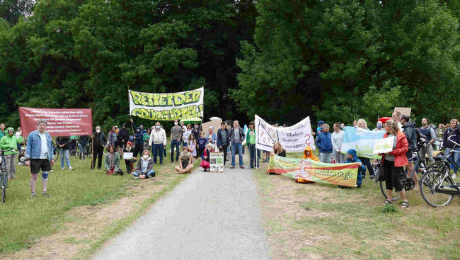 Protest Gleueler Wiese