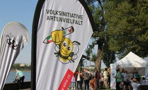 Volksinitiative Artenvielfalt beim RheinCleanUp