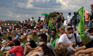 Demo gegen die Rheinspange in Porz-Langel
